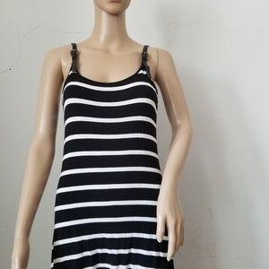 Rudsak Stripe Maxi High Low Dress, Medium
